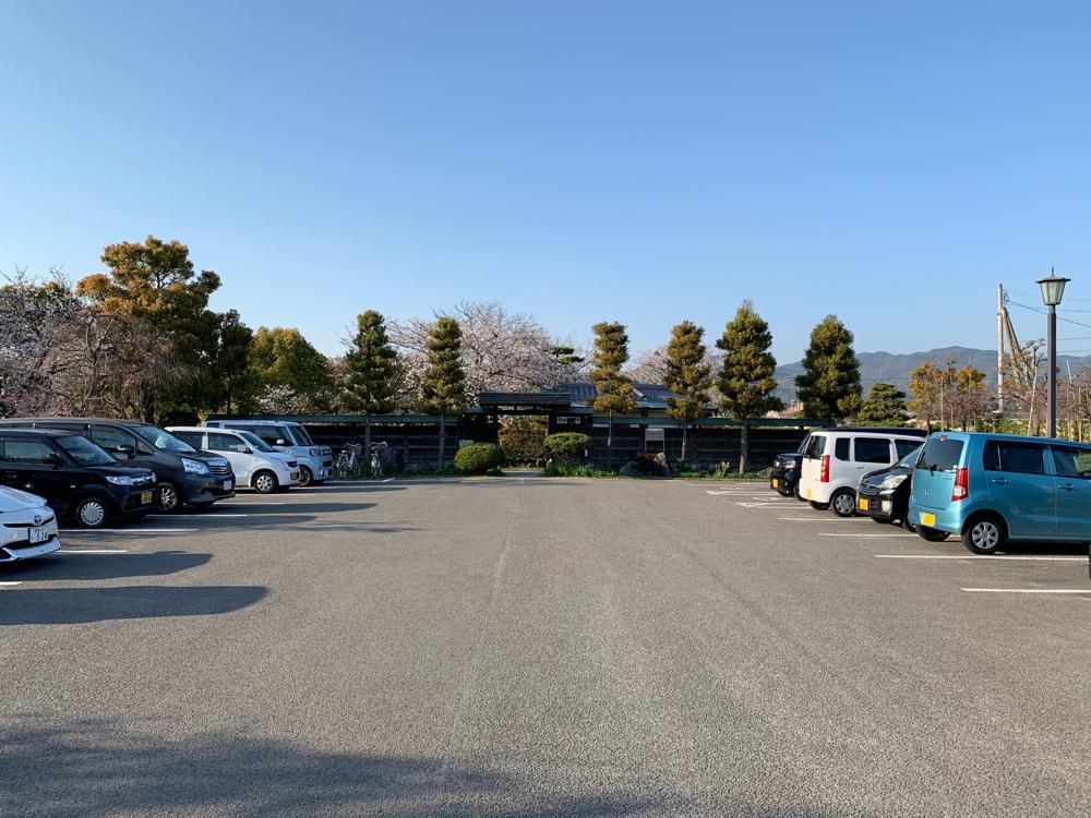 杖ノ淵公園の駐車場