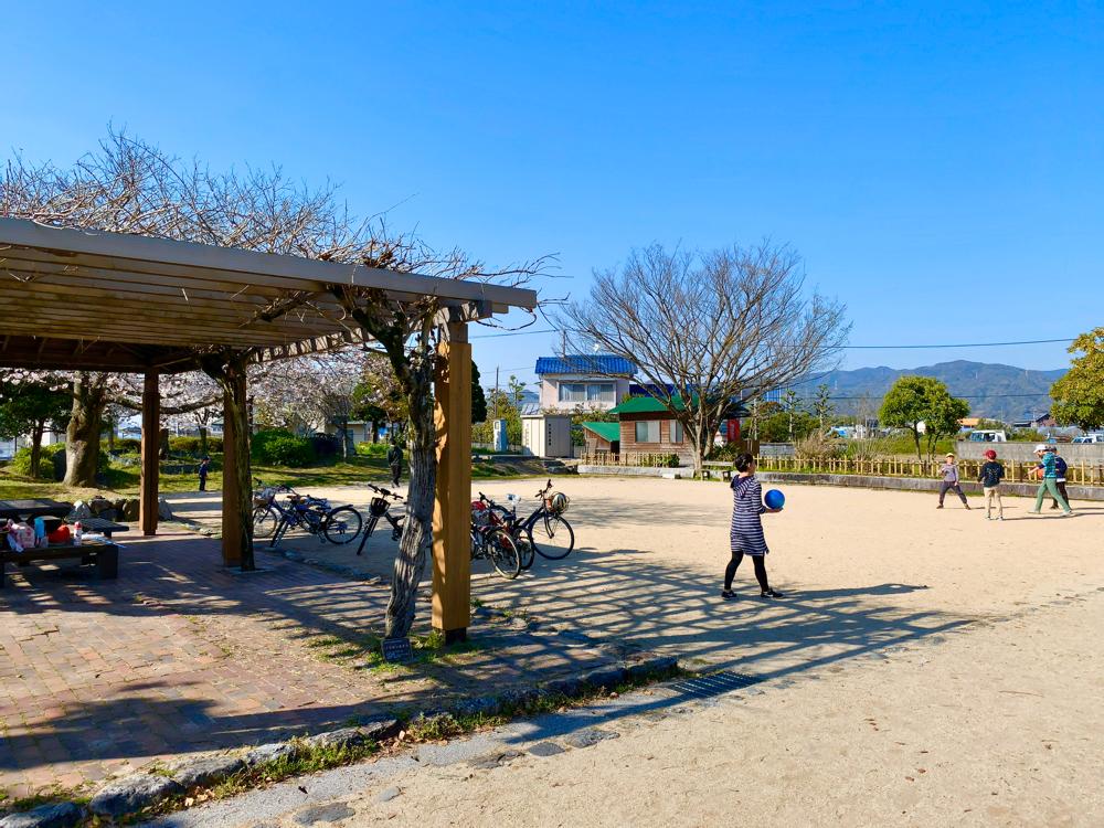 杖ノ淵公園の広場