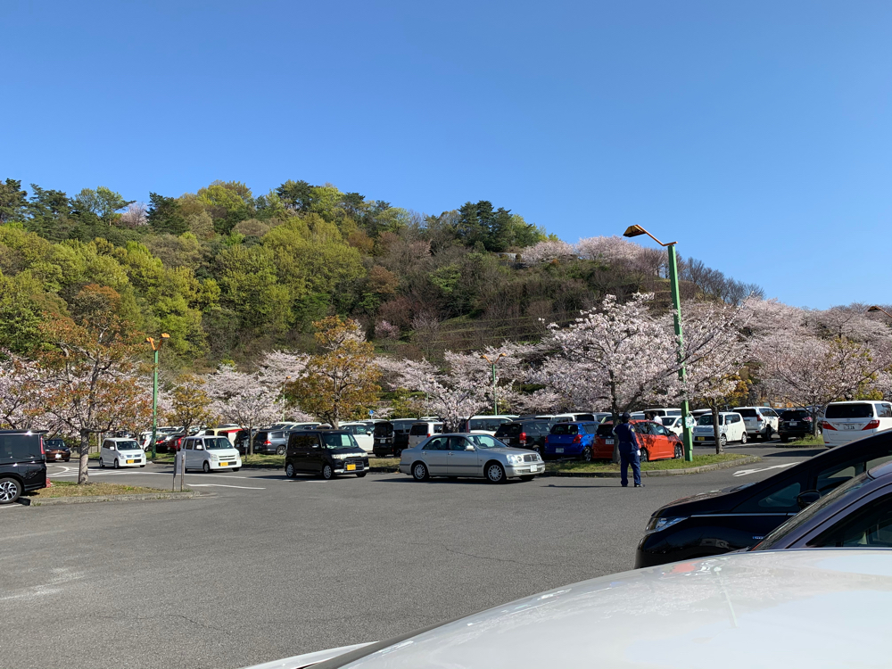 松山総合公園の第3駐車場