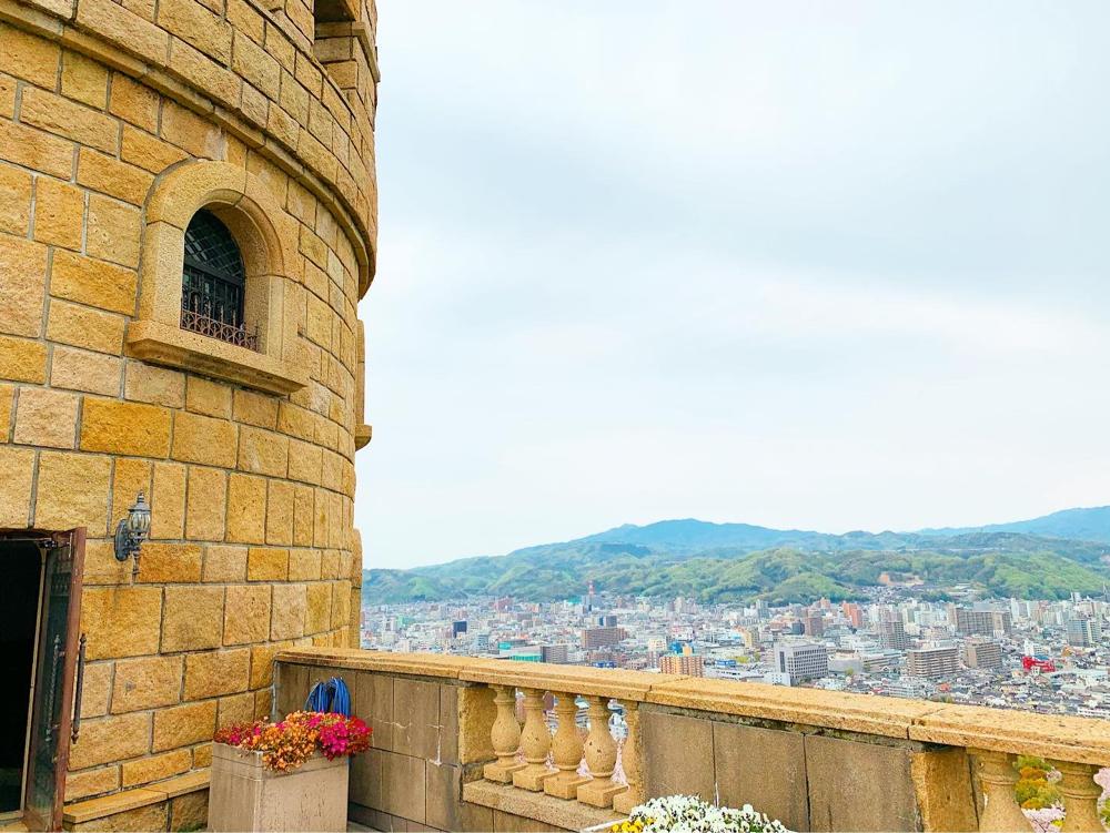 展望塔から松山市街地の眺め