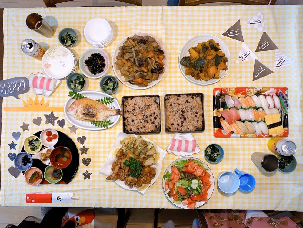 100日のお祝いのご飯