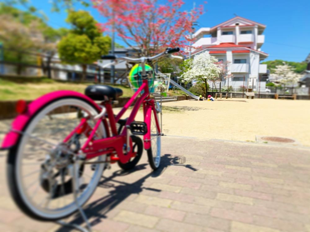 公園と自転車